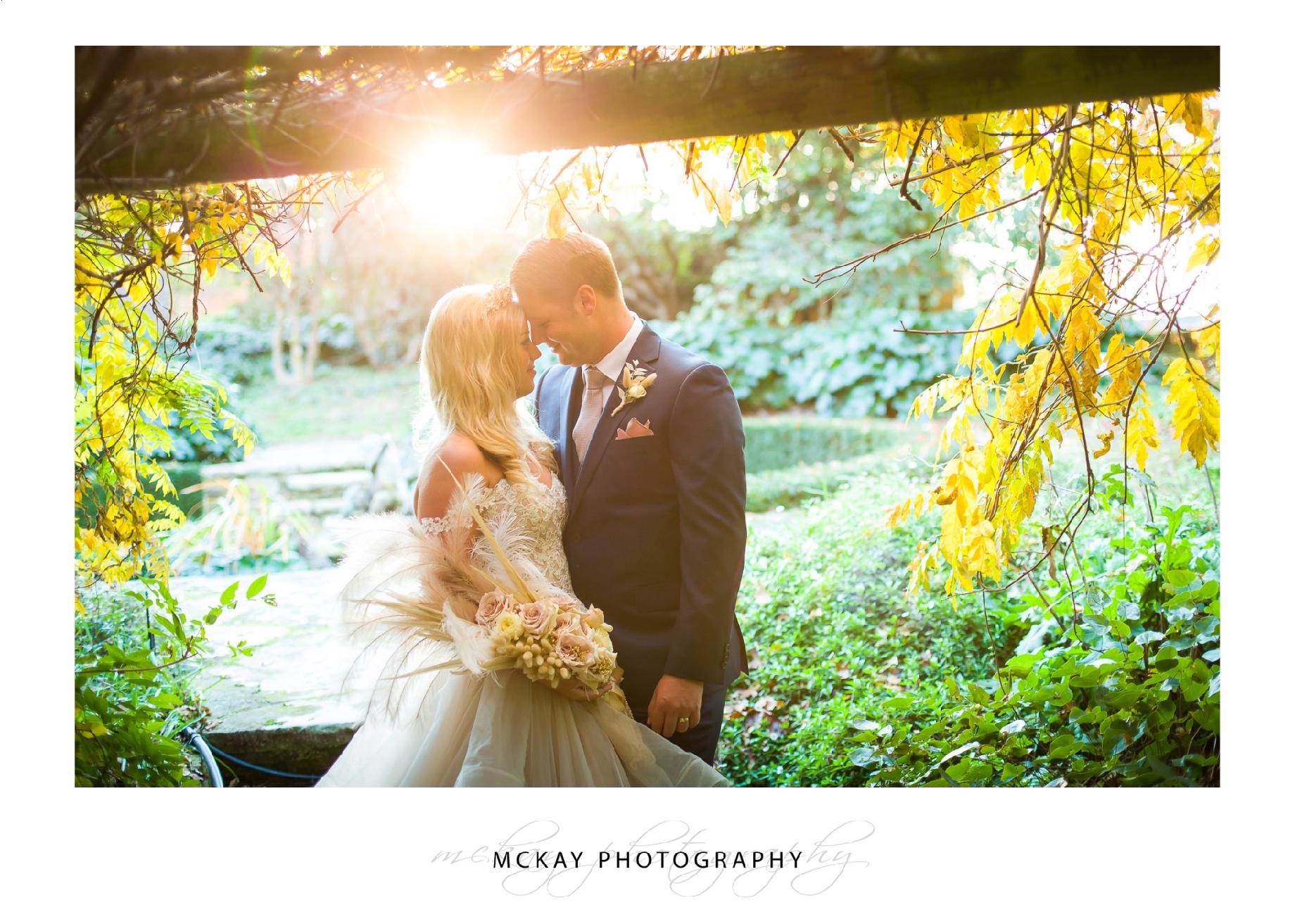 Wedding Milton Park sunset golden hour