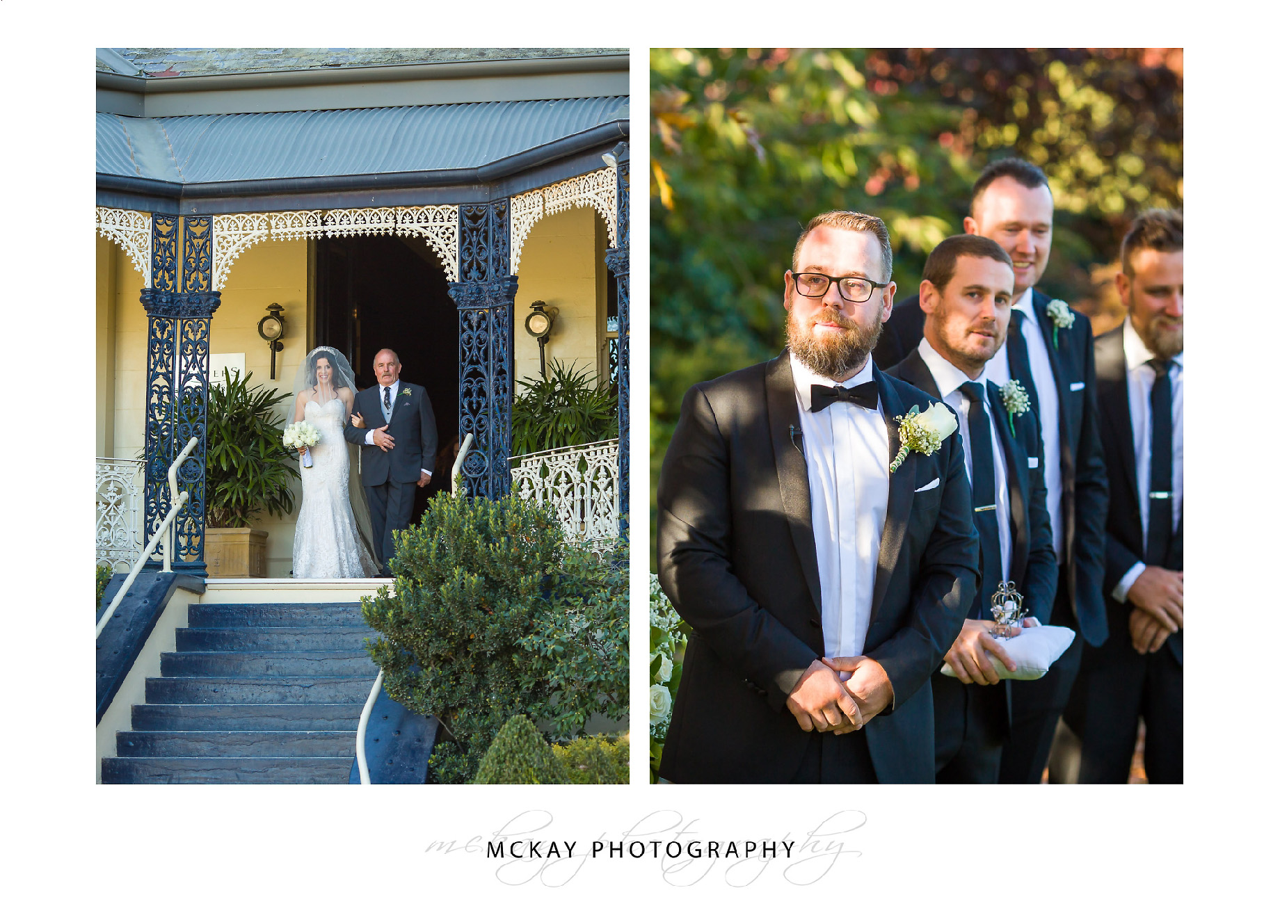 Grooms waits for bride