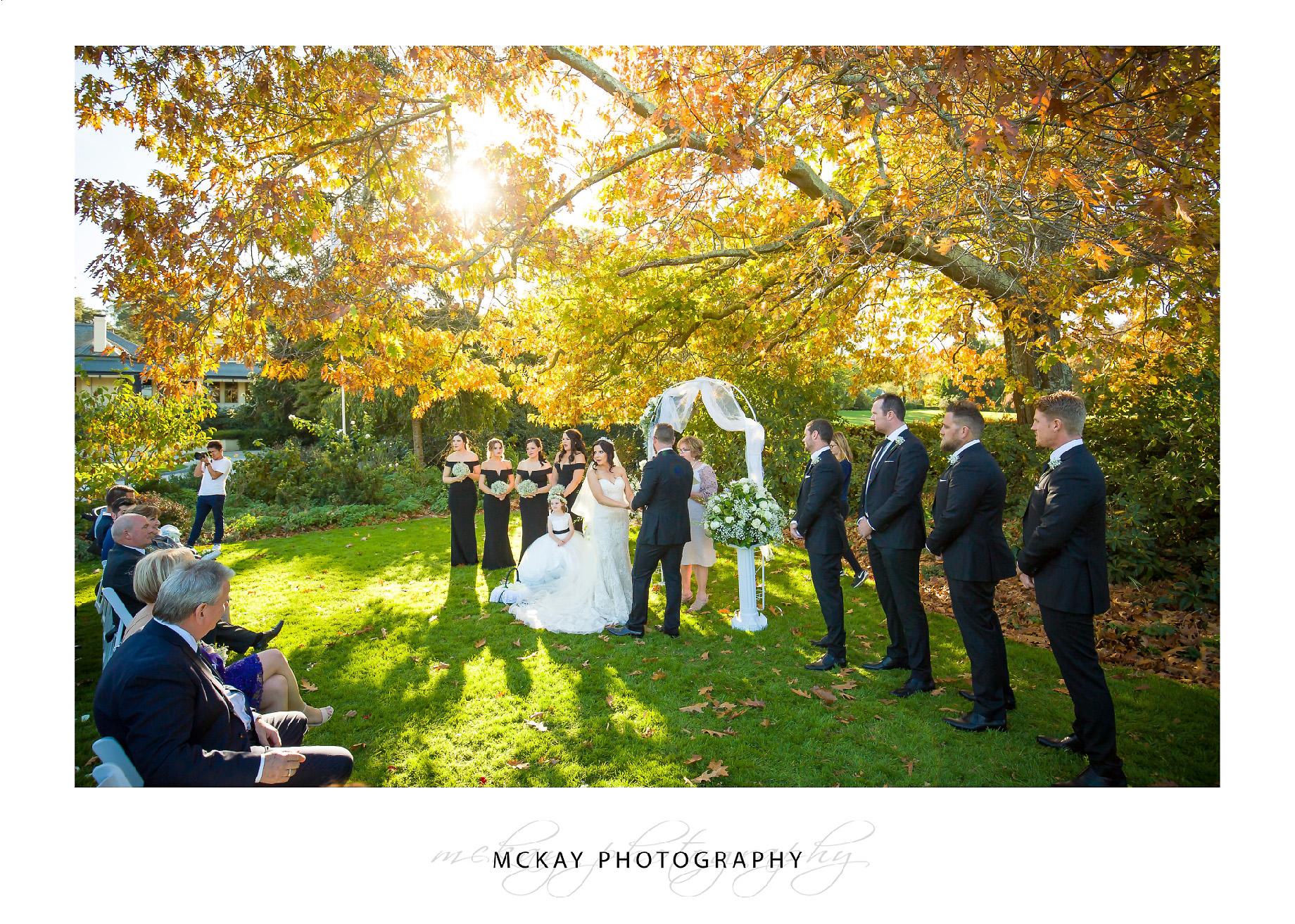 Peppers Craigieburn Wedding Bowral ceremony Autumn