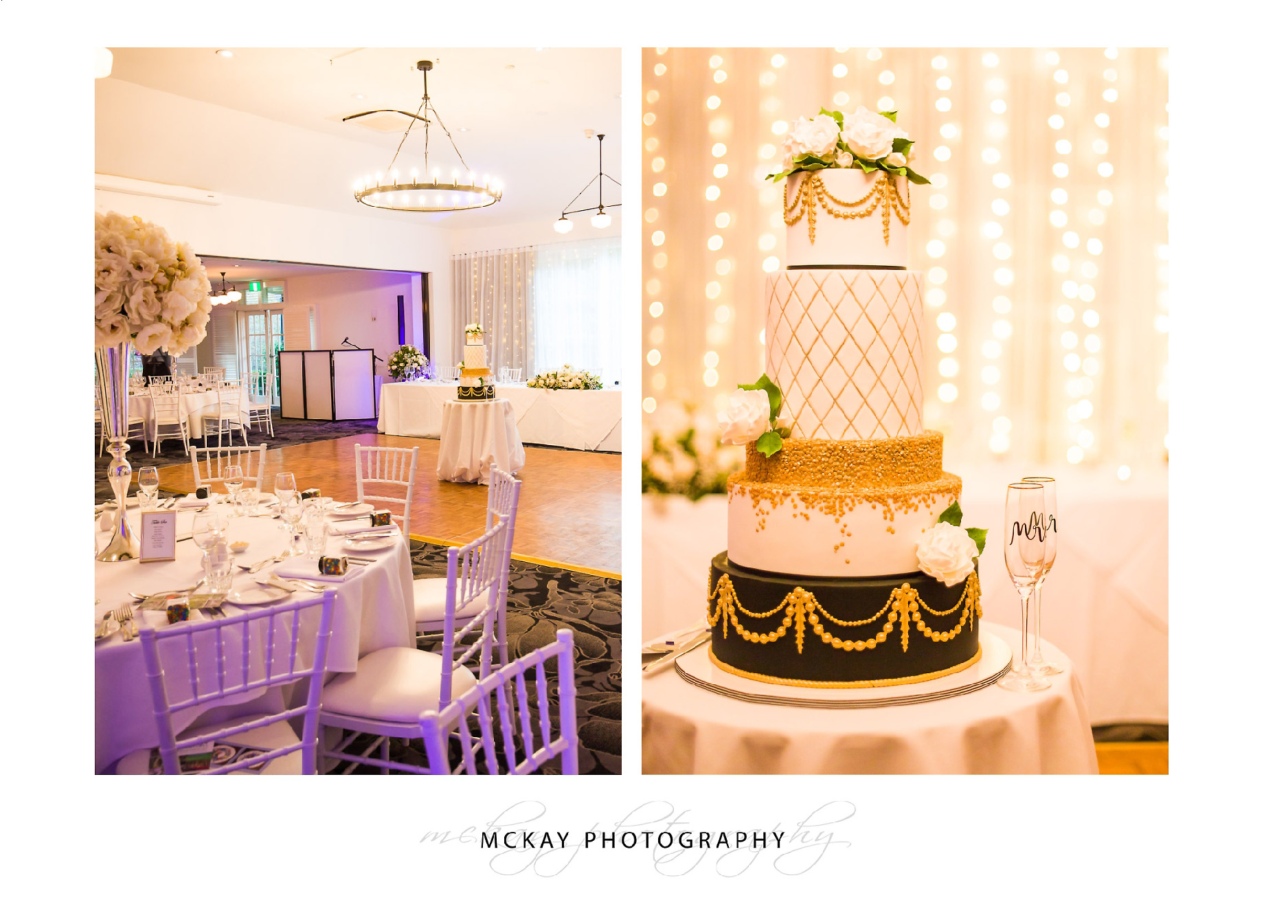 Wedding cake and room details